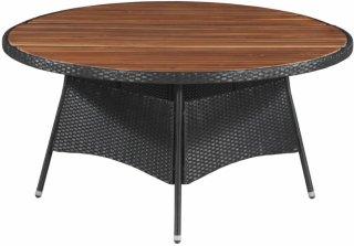VidaXL Utendørs spisebord polyrotting og akasietre 150x74cm
