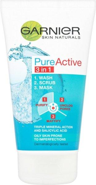 Garnier PureActive 3 In 1 Wash Scrub Mask