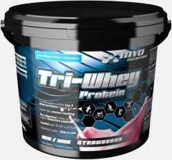 MYO Nutrition Tri-Whey Protein Jordbær 3kg