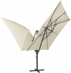 VidaXL Dobbel parasoll