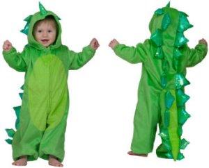 Funny Fashion Dino Drage Kostyme