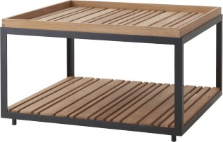 Level sofabord teak 79x79cm