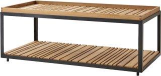 Level sofabord teak 122x61cm