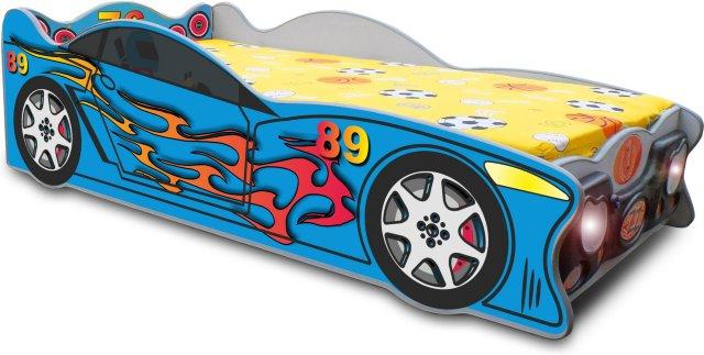 Cloudberry Castle Racerbil Juniorseng (140x70 cm)