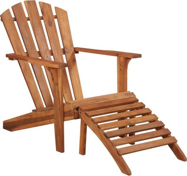 VidaXL Adirondack stol med fotstøtte heltre akasie