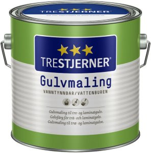 Trestjerner Gulvmaling Halvblank (2,7 liter)