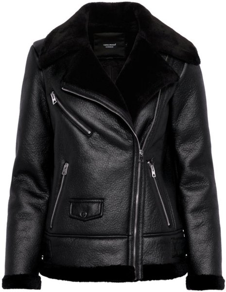 Vero Moda Short Shearling Jacket