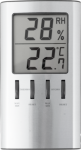 Termometer/Hygrometer aluminium