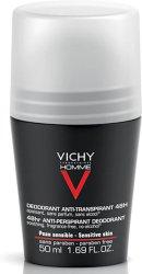 Vichy Homme Deodorant Sensitive Skin Roll-On 50ml