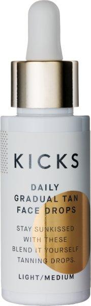 KICKS Daily Gradual Tan Face Drops 30ml