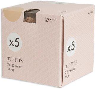 5-pakning Tights (20 den)