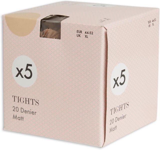 Lindex 5-pakning Tights (20 den)