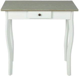 Konsollbord MDF hvit og gråbrun