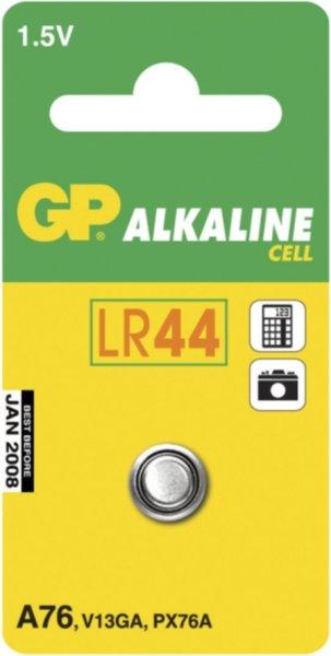 GP LR44 alkaline knappcelle, 1,5V