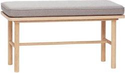 Hübsch Benk med pute 85x40x45cm
