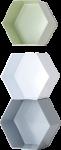 Ellos Hexagon vegghylle