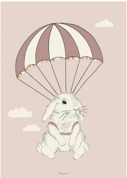 Bloomingville Airborne Bunny poster