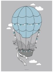Bloomingville Hot Air Balloon Friends poster