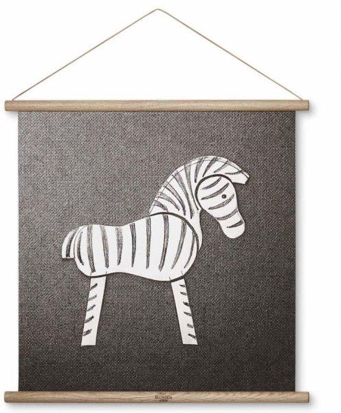 Kay Bojesen Zebra tegning 40x40cm