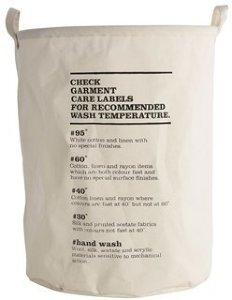 Wash Instructions skittentøyskurv