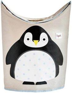 3 Sprouts Penguin skittentøyskurv