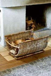 Riviera Maison Logs vedkurv i rotting