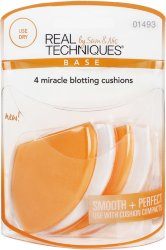 Real Techniques 4 Miracle Blotting Cushions Makeup Sponge