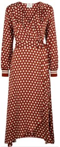 a6b914316e8d Best pris på Second Female Spotty Wrap Dress - Se priser før kjøp i ...