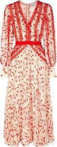 Self-Portrait Midi Chiffon Dress