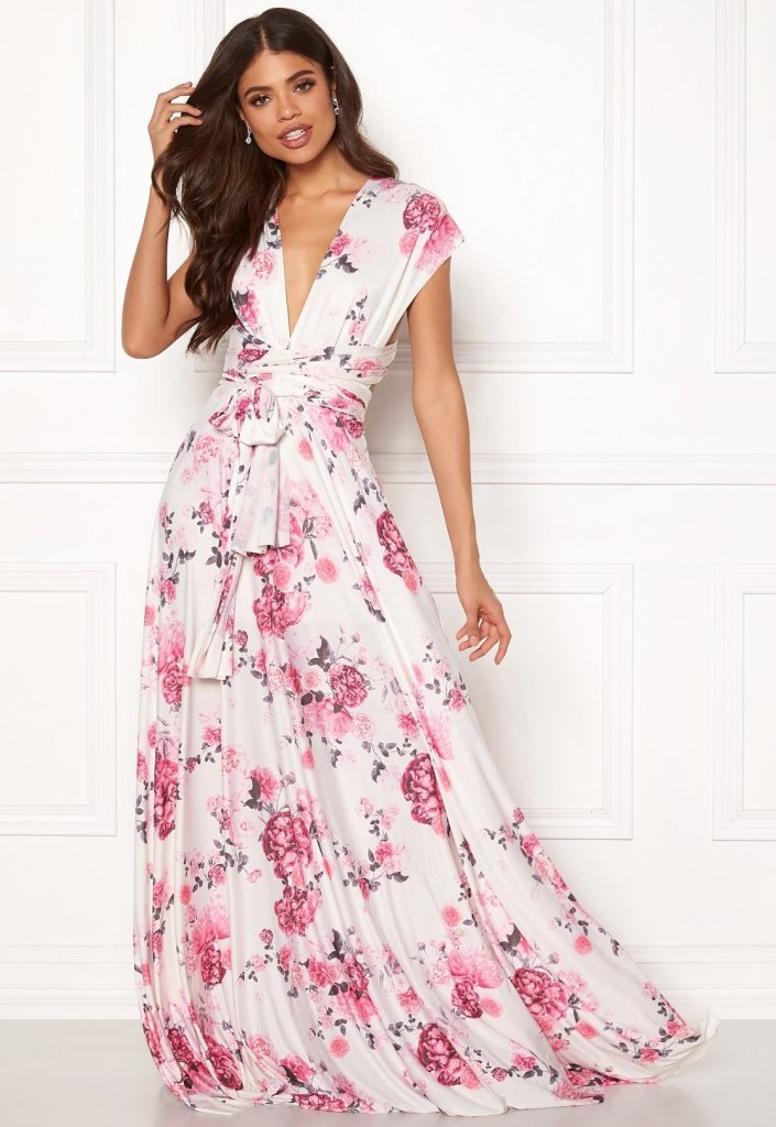 Goddiva Multi Tie Maxi Dress