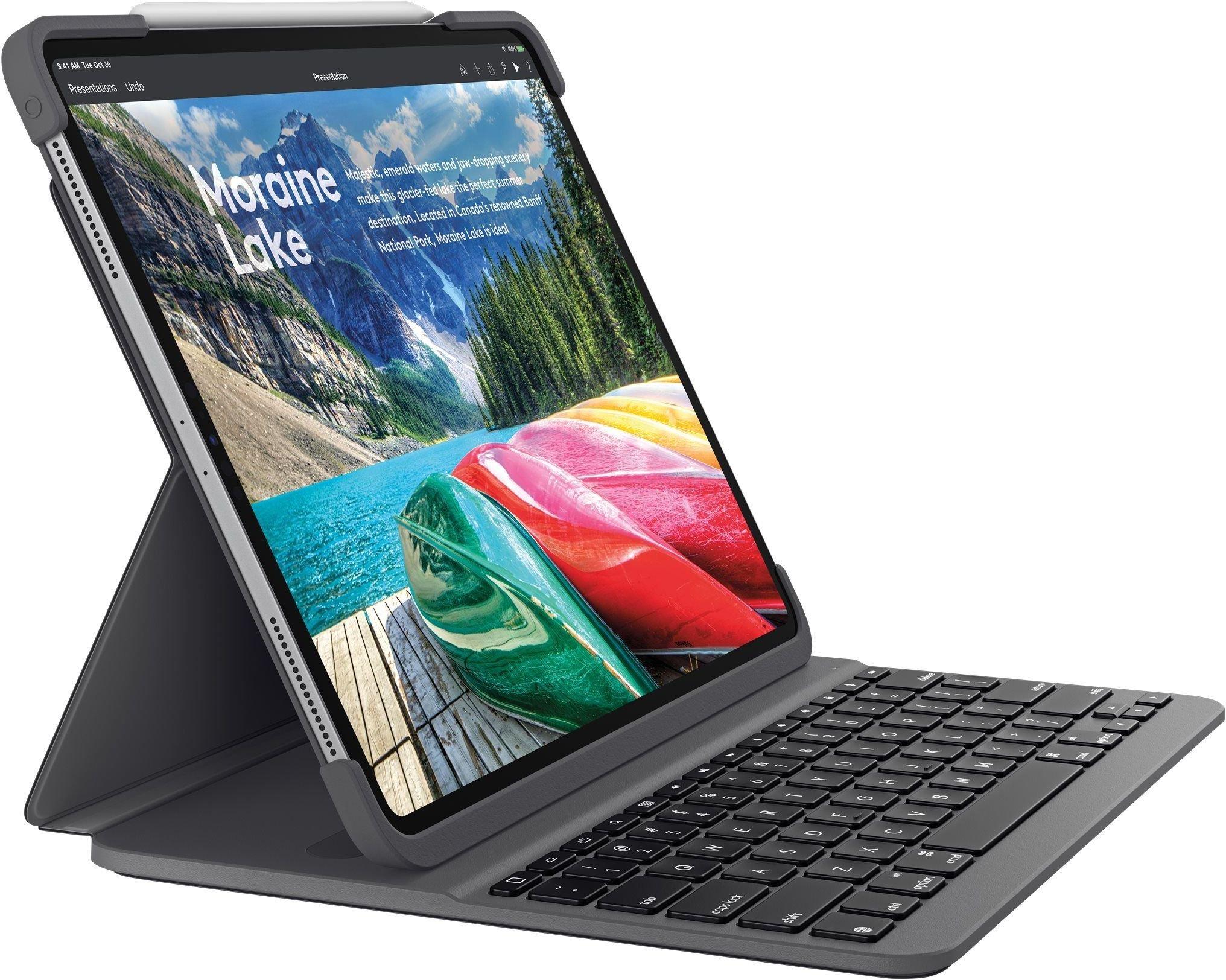 Logitech Slim Folio PRO Keyboard Cover Tastatur og stylus