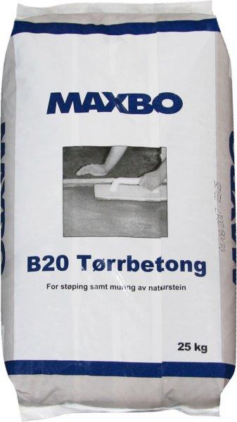 Maxbo Tørrbetong B20 25kg