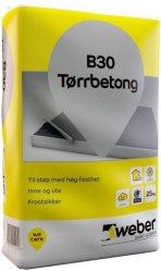 Weber Saint-Gobain Tørrbetong B30 25kg