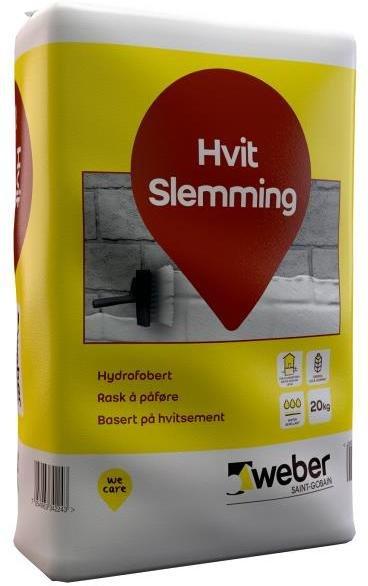 Weber Saint-Gobain Hvit Slemming 20kg