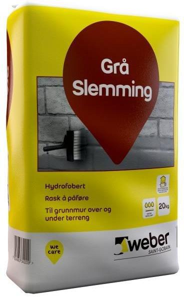 Weber Saint-Gobain Grå Slemming 20kg