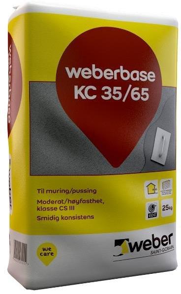 Weber Saint-Gobain Weberbase KC 35/65 25kg