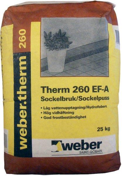 Weber Saint-Gobain Therm 260 Sokkelpuss 25kg