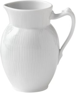 Royal Copenhagen Hvit Riflet mugge 38cl