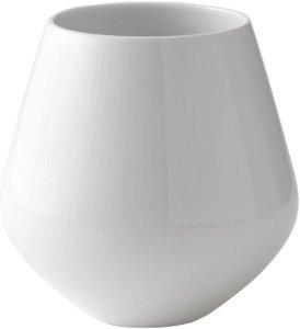 Royal Copenhagen Hvit Riflet vase 15cm