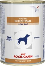 Royal Canin Veterinary Diets Dog Gastro Intestinal Low Fat Wet 12 x 410 g