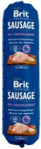 Brit Premium Kylling & Kanin Kjøttpølse 12x800g
