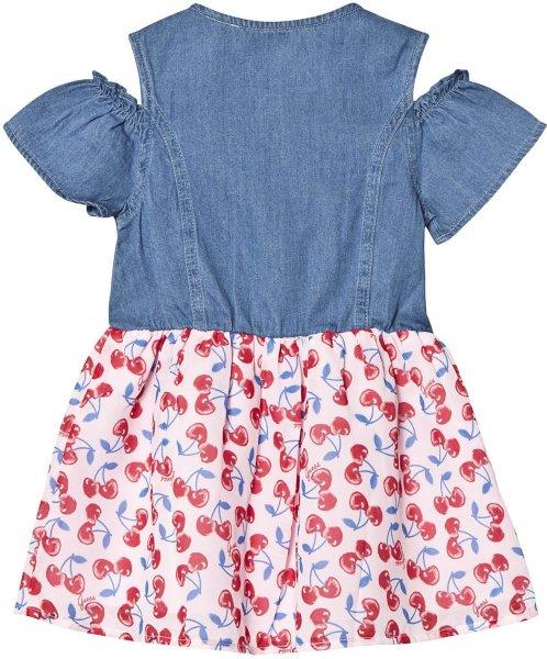 Guess Blue Denim Cherry Print Dress