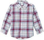 GAP Plaid Linen Convertible Shirt