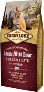 Carnilove Lamb og Wild Boar for Adult Cats Sterilised, 6 kg