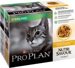 Purina Pro Plan Cat Chicken Sterilised Multipack 10 x 85g