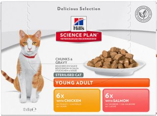 Hill's Science Plan Feline Sterilised Cat Favourite Selection 12 x 85g
