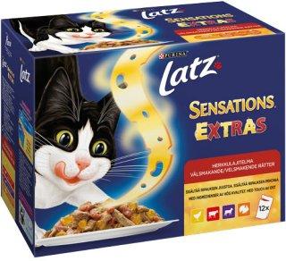 Latz Sensations Extras Kjøtt, 12 x 100g