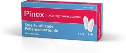 Pinex 250 mg stikkpille 10 stk