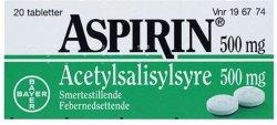 Bayer AB Aspirin 500 mg tabletter 20 stk