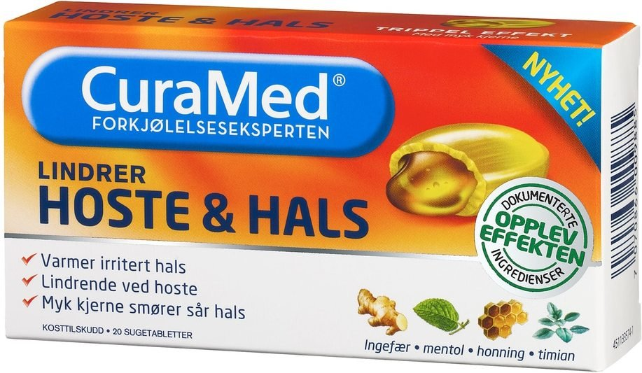 CuraMed Hoste & Hals 20 stk